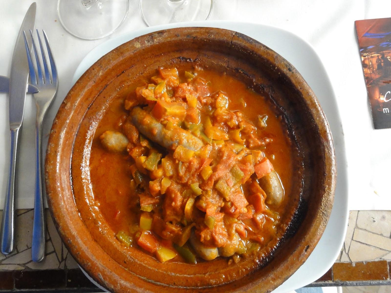 Moroccan Merguez And Vegetable Tagine Recipe — Dishmaps