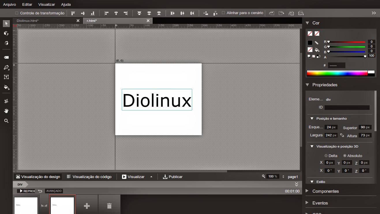 Google Web Designer App para Linux