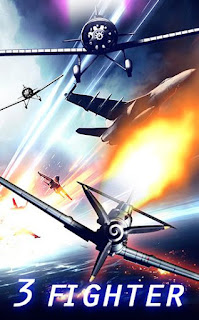 Screenshots of the Air combat: 3 fighters for Android tablet, phone.