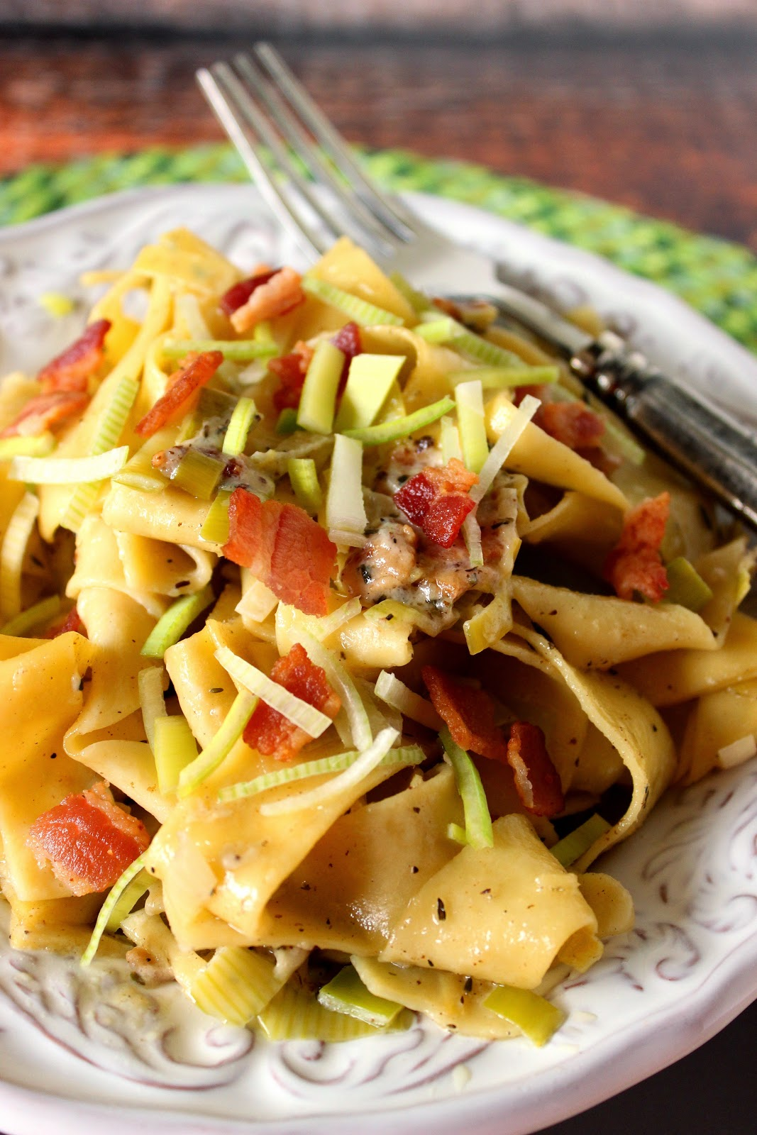 ... for Pappardelle with Leeks and Bacon will have you doing just that