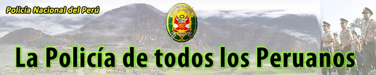 La Policía de todos los Peruanos