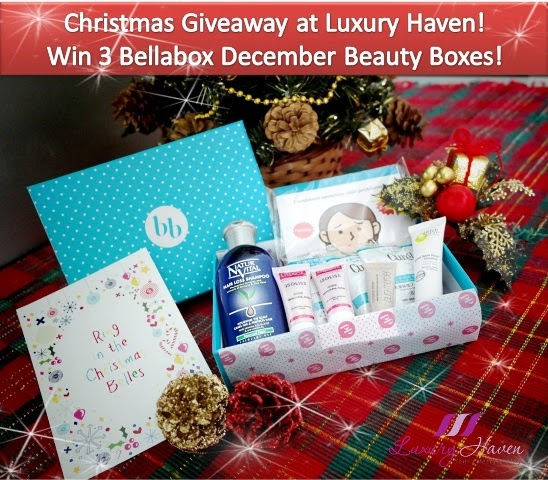 Christmas Giveaway!  Win Bellabox December Beauty Boxes!