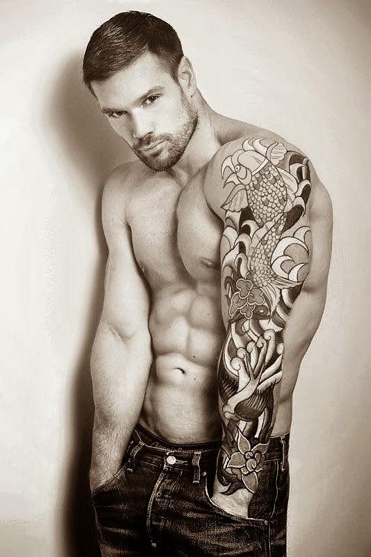 Perfect colour sleeve design men tattoos