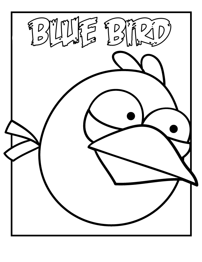 Kids Under 7: Angry Birds coloring pages for kids