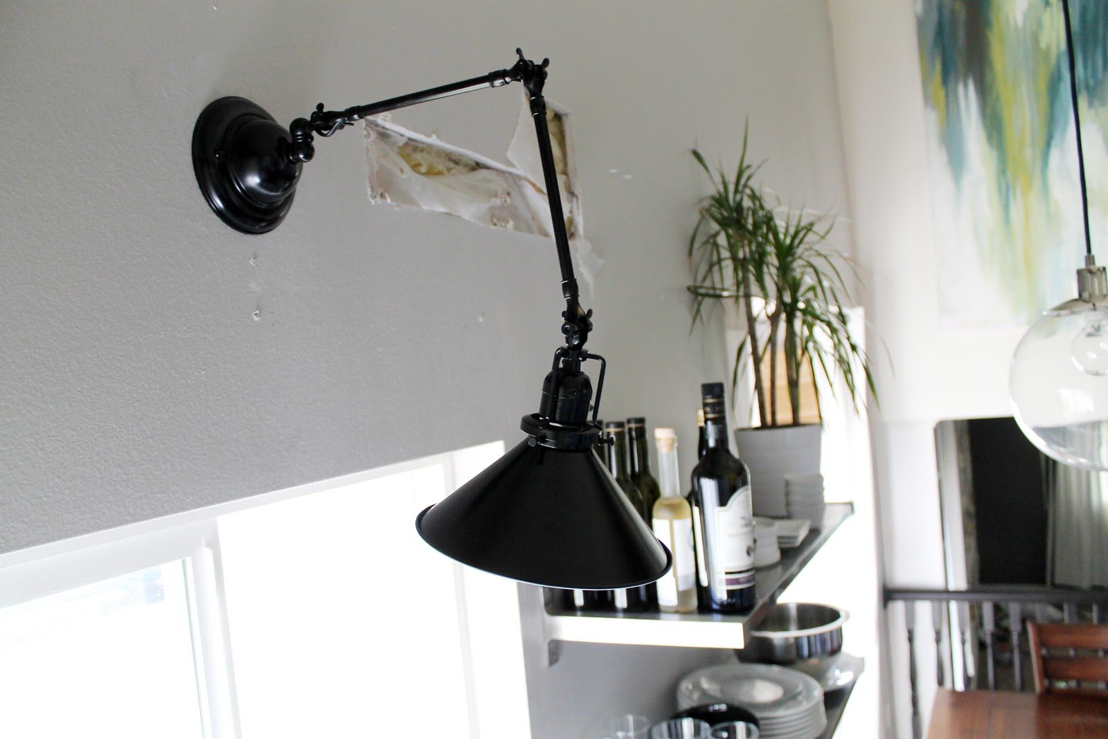 Wall Sconces In The Kitchen : The New Kitchen Lighting (Or Fluorescent Be Gone!) - Chris Loves Julia