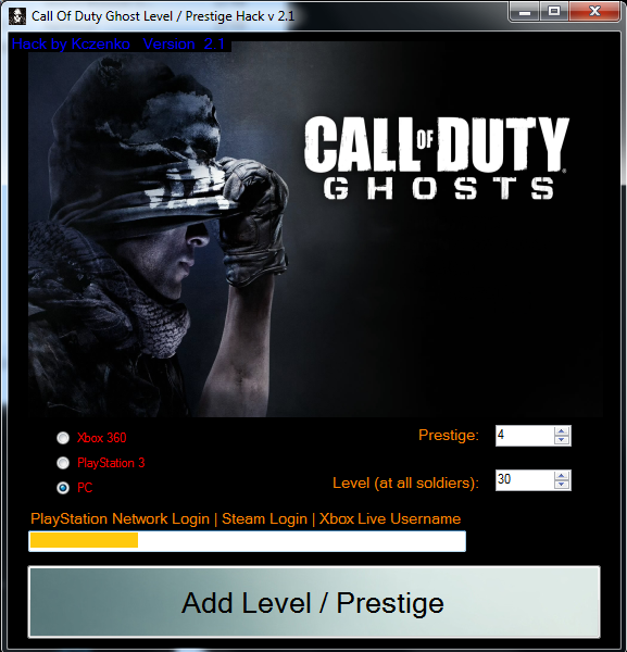 Hack COD LVL hack | 2013 free download [PC, Xbox 360, PlayStation 3