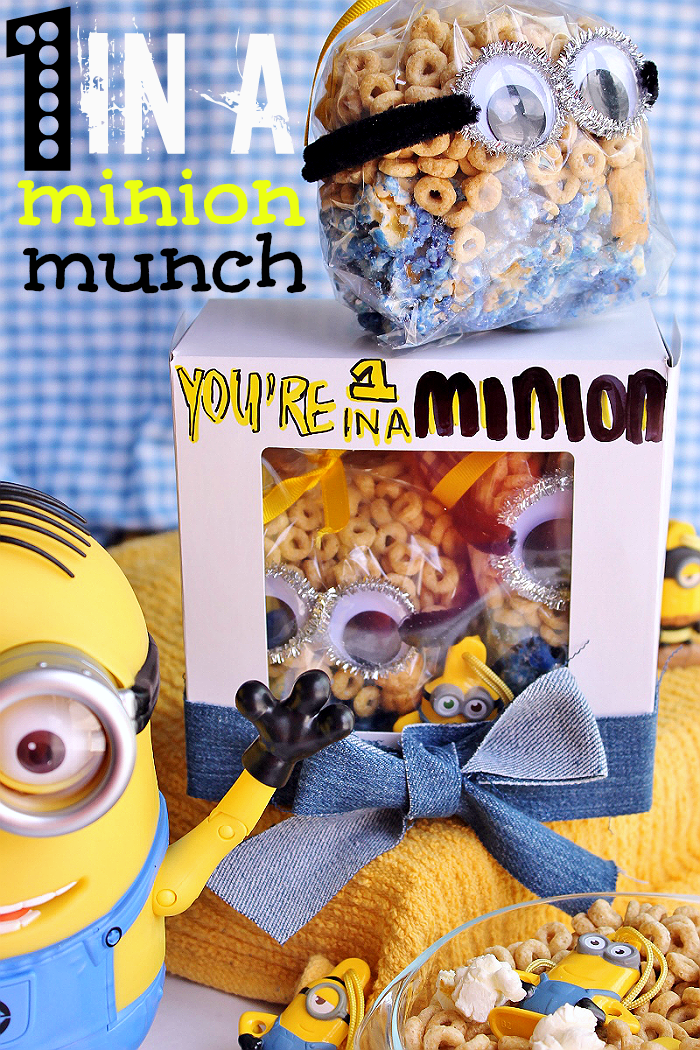Make 1 In A Minion Munch care packs with your favorite cereal and Connect and Collect cereal box toy Minions! Find #The7thMinion in exclusive marked Family Size General Mills cereal boxes, only at Walmart. Will you find the Prehistoric minion? #ad