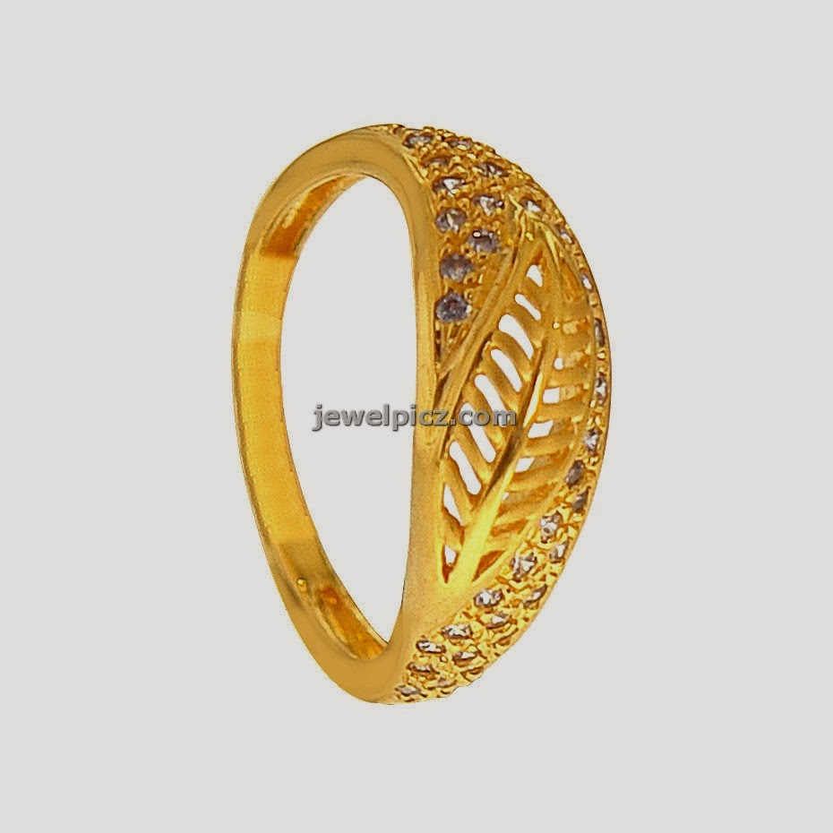 Leaf model ladies gold rings from prince jewellery ~ Latest Indian ...