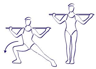 desplazamientos laterales, persona haciendo desplazamientos laterales, desplazamientos laterales con barras, ejercicios para piernas, ejercicios para gluteos, desplazamientos laterales para bajar de peso