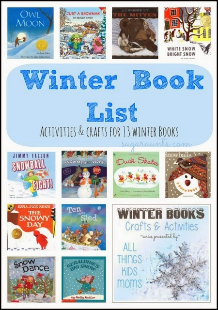 Winter Book List Activities for 13 Winter Books