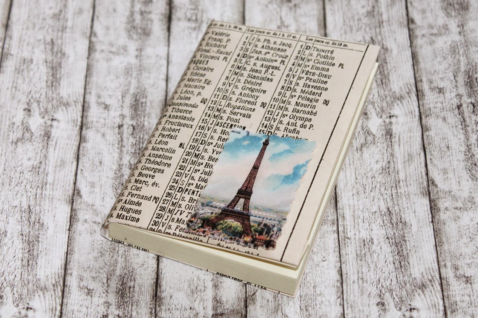 DIY Kladde Paris Notebook