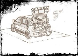 Desenhos Para Colorir os Som automotivo cars