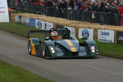 Caterham / Lola SP300R In action at Cholmondeley Pageant of Power