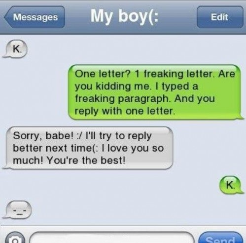 Boyfriend Girlfriend Iphone K Letter Message Text Troll