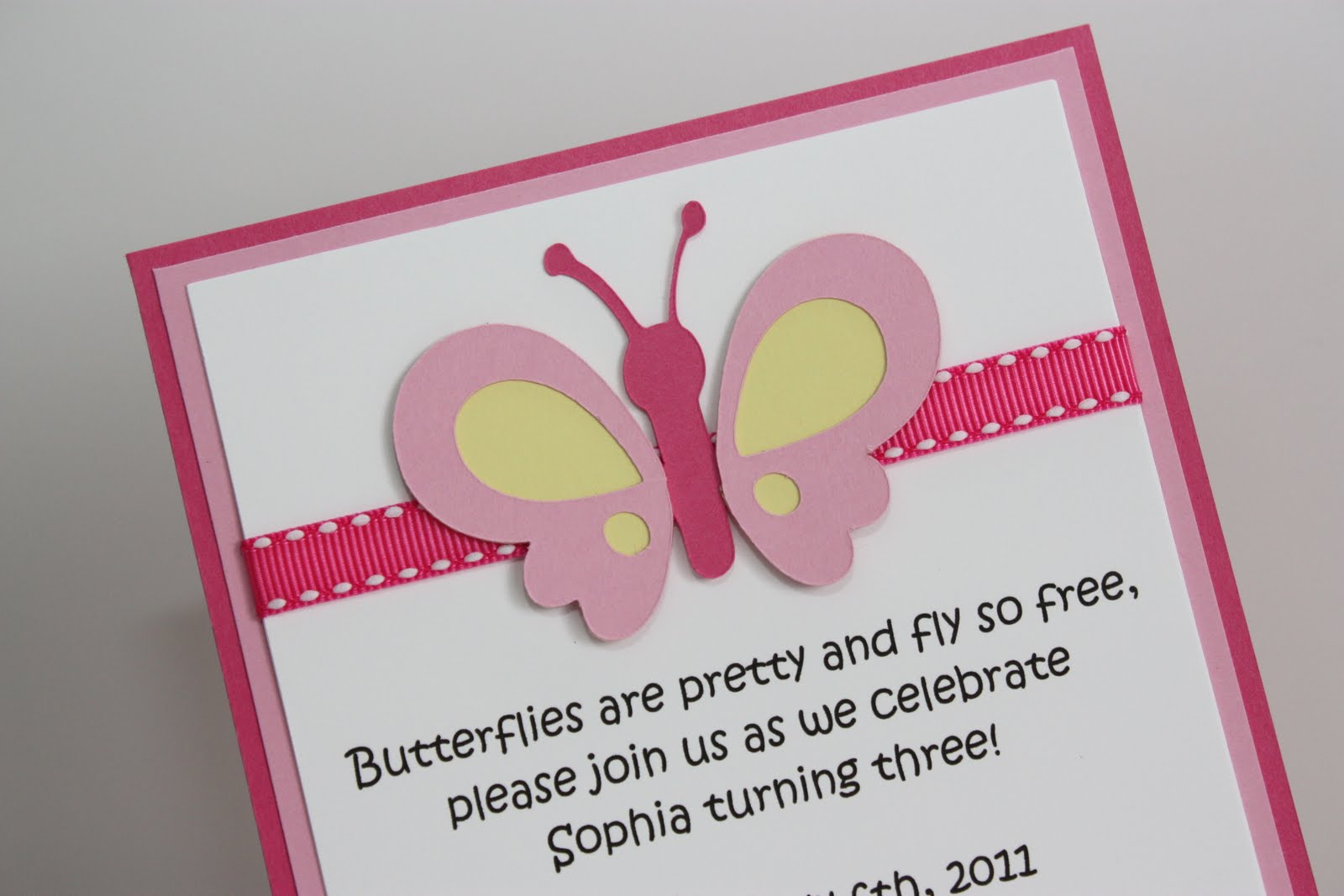 5M Creations Girl Themes Birthday Party Invitations – Butterfly Birthday Invites