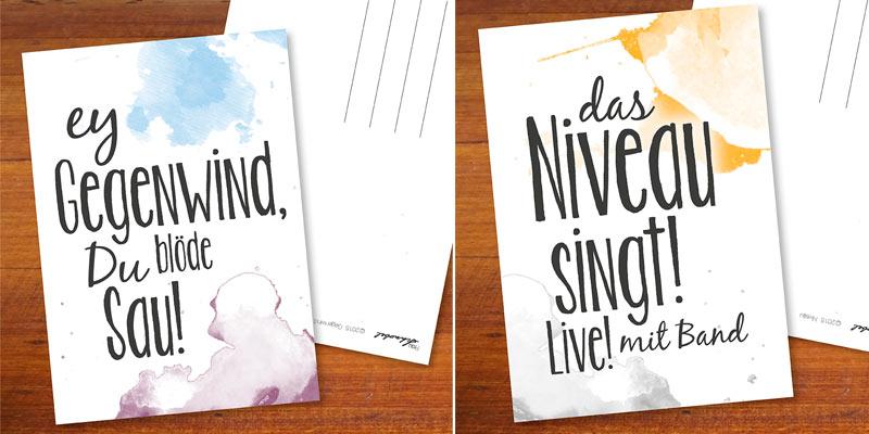 selbstgemachte Postkarten