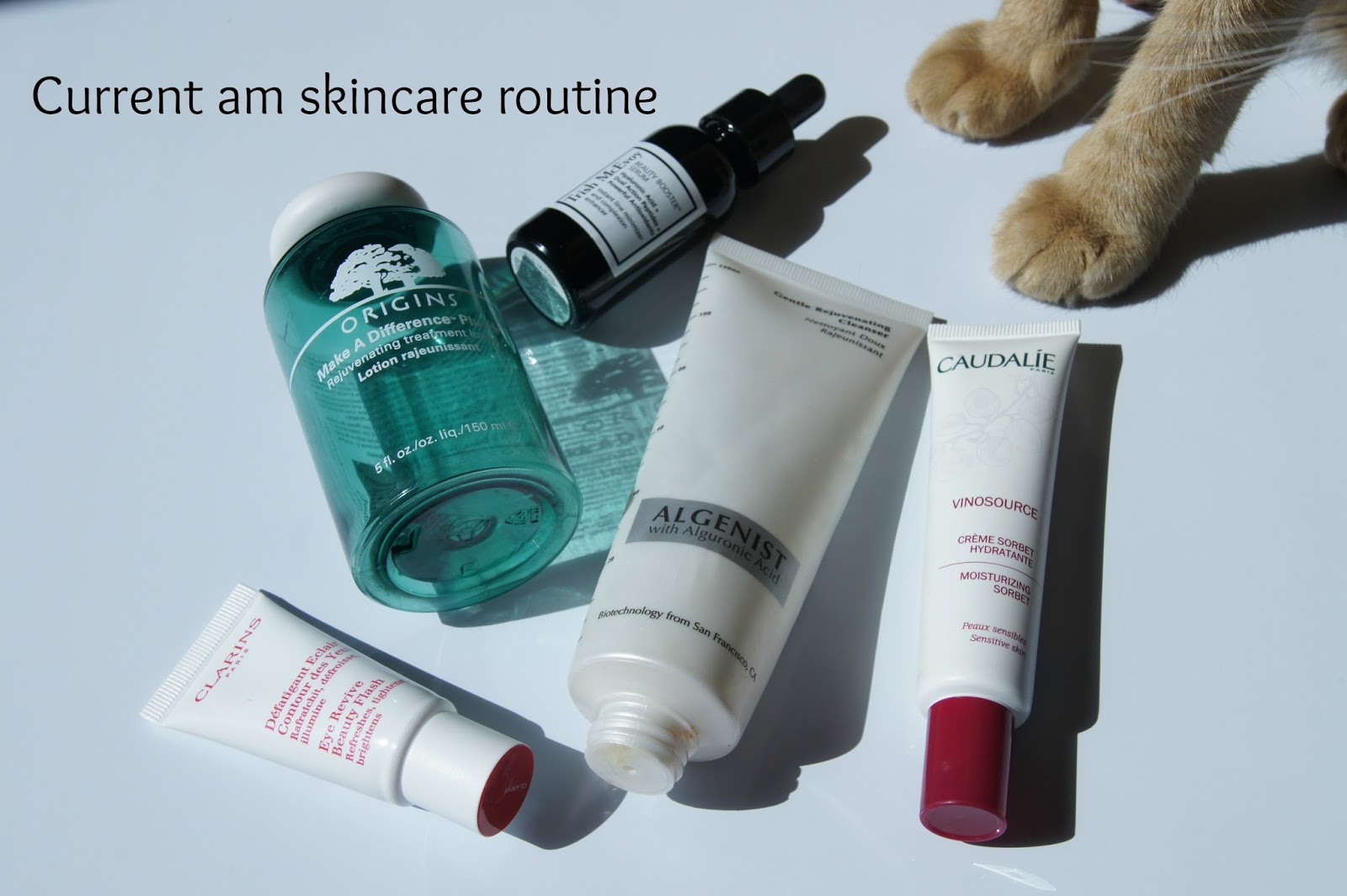 Current am skincare routine