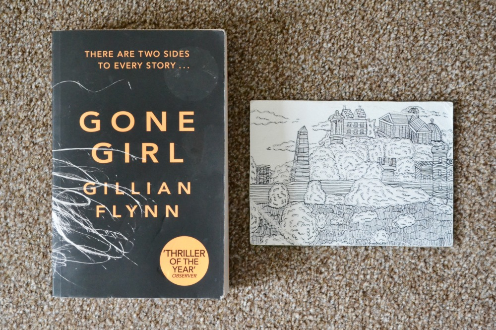 Gone Girl book Edinburgh postcard