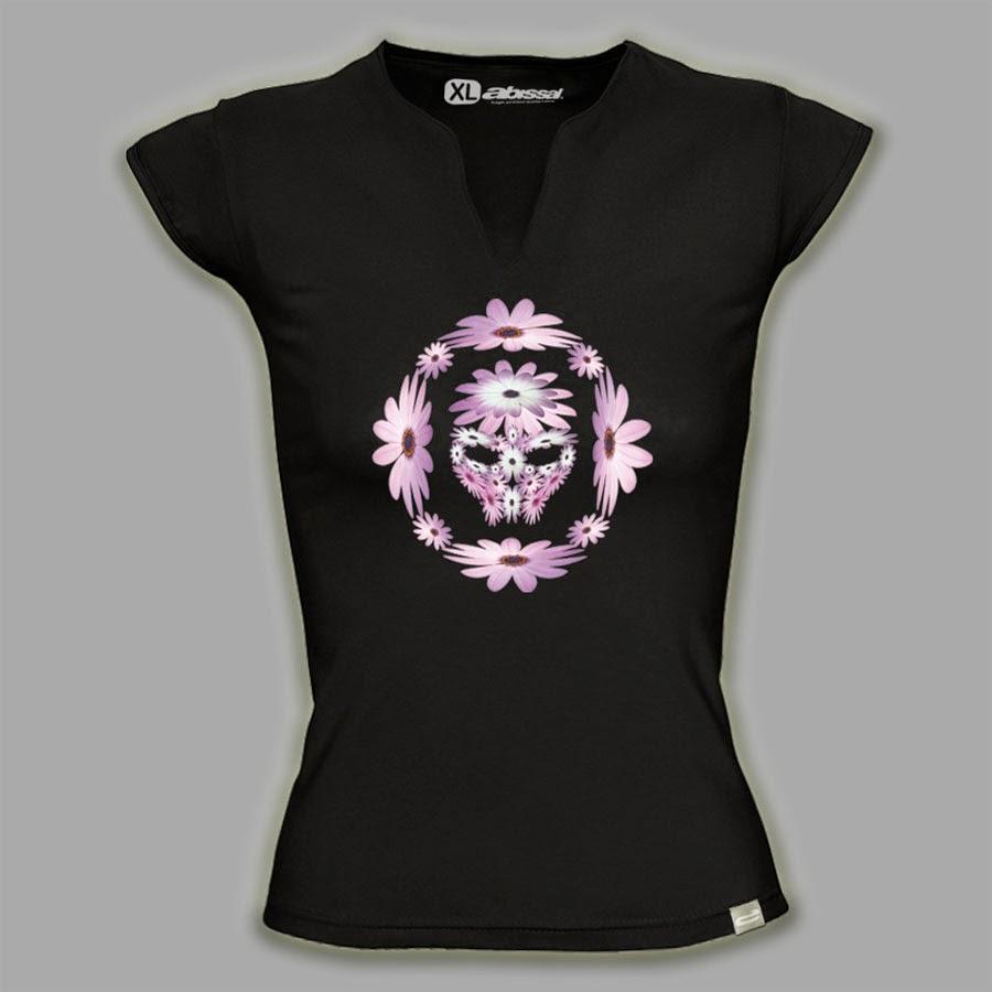 camiseta-calavera-floral