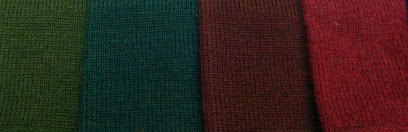 Plain Wool Knitted Tie Colours