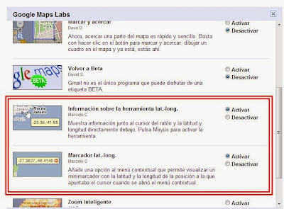 Apps lat.-long para conocer latitud y longitud en Google Maps