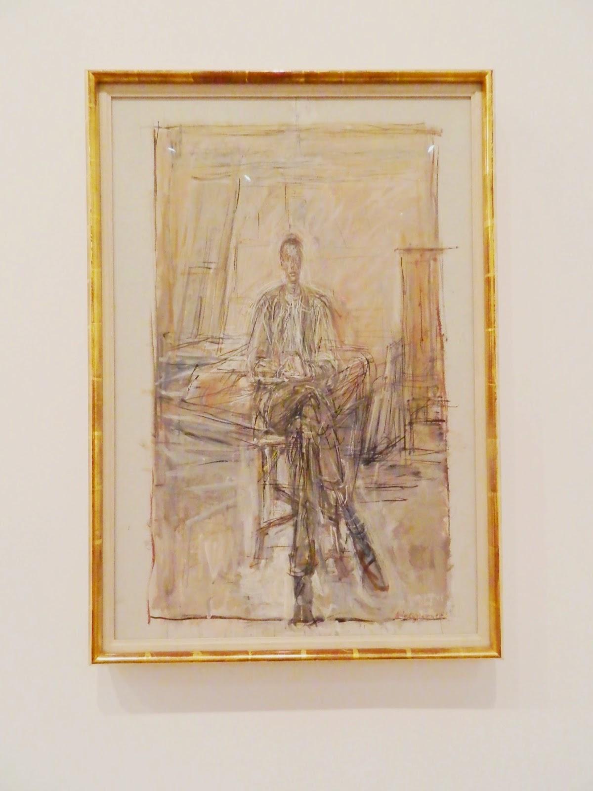 Alberto Giacometti man sitting
