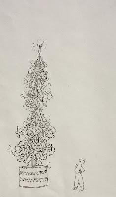 Paul, Christmas, cake, tree, imagines, big, tall, top, child, Sarah Myers, S. Myers