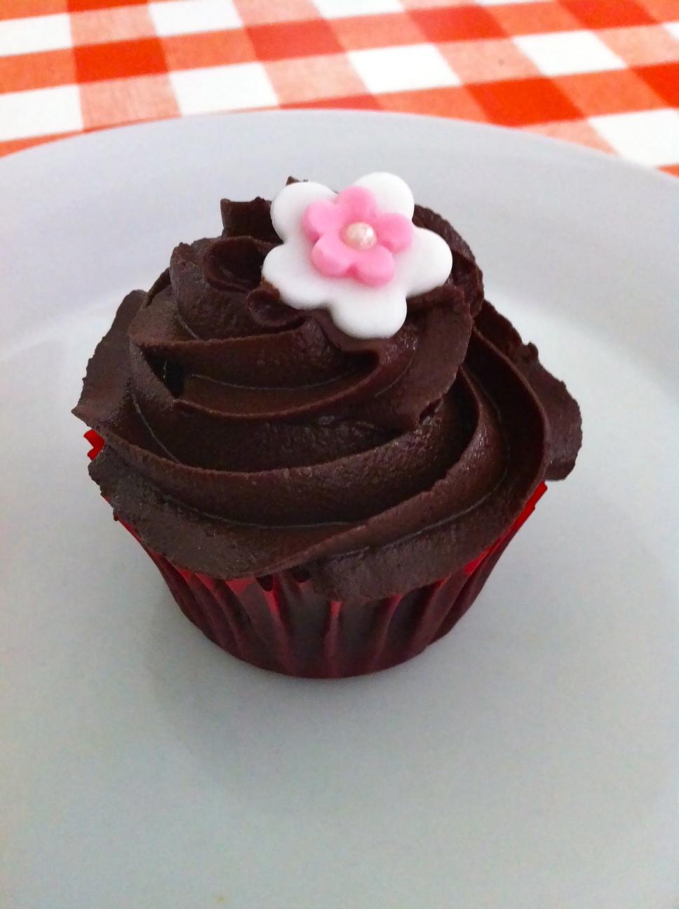 chokolade topping kage