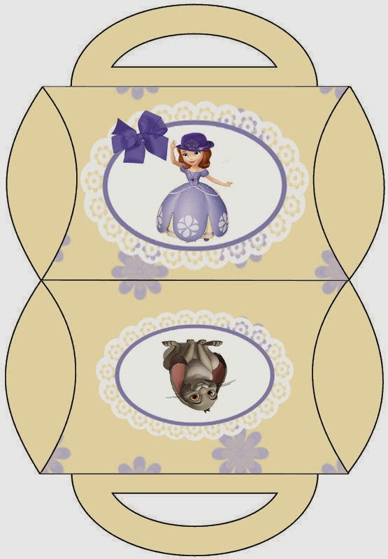 Sofia the First Party: Free Printable Pillow Box.
