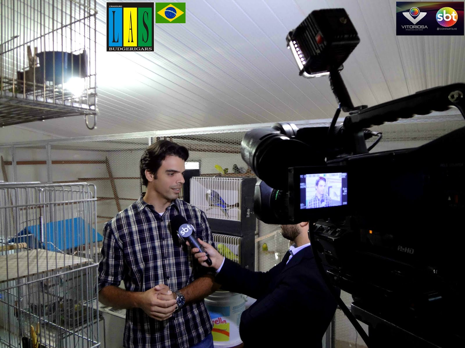 Visita da rede Vitoriosa de Uberlândia/MG (canal SBT) no CRIADOURO LAS