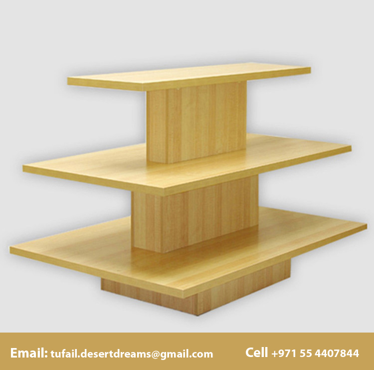 display stands wooden