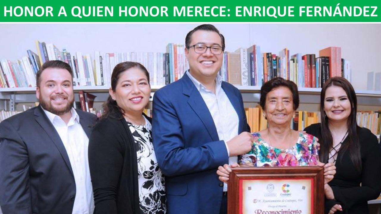 HONOR A QUIEN HONOR MERECE: ENRIQUE FERNÁNDEZ