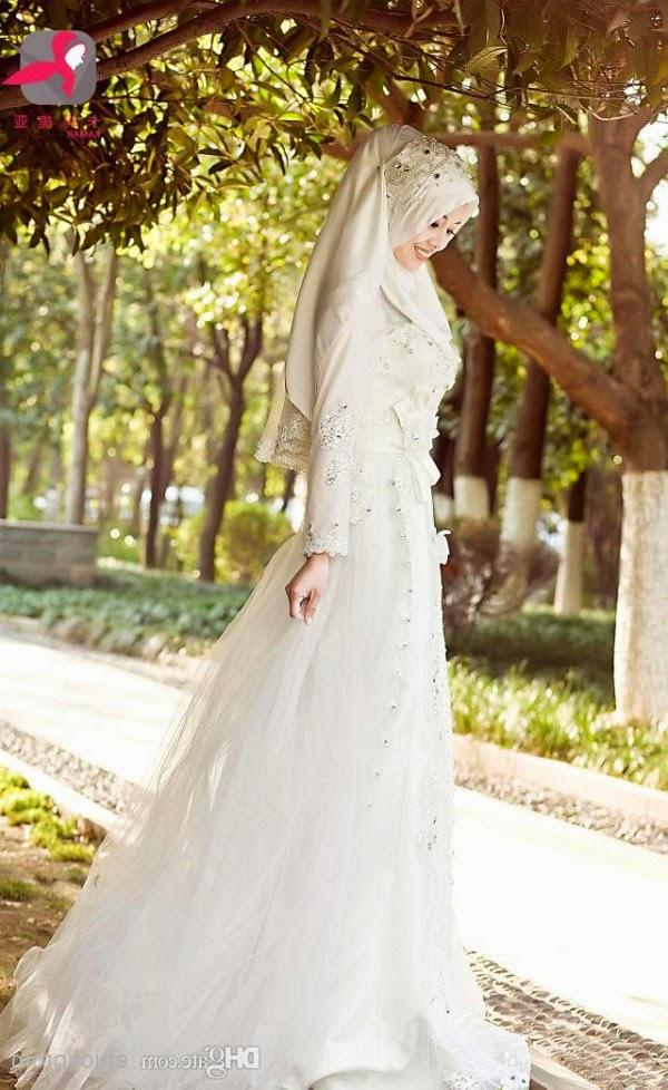 foto gaun pengantin muslim terbaru
