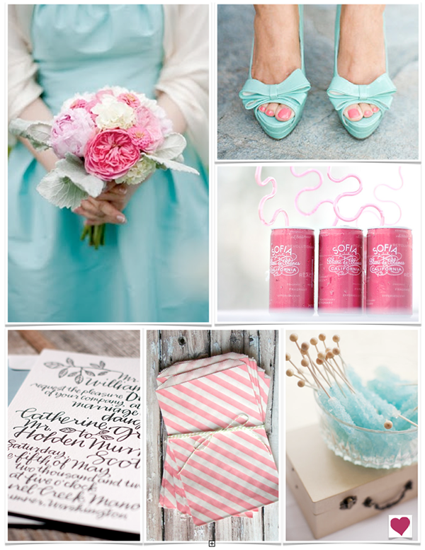 The awesometastic bridal blog pink and blue wedding for Wedding pink and blue