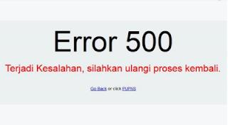 """Cara Cepat Mengatasi """"Error 500"""" ePUPNS 2015"""