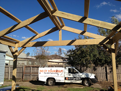 Ubuild projects how to build a timber carport for Timber frame carport plans