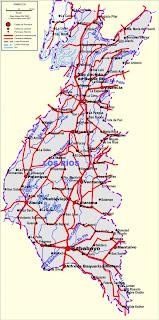 Mapa de los ríos más importantes de ECUADOR