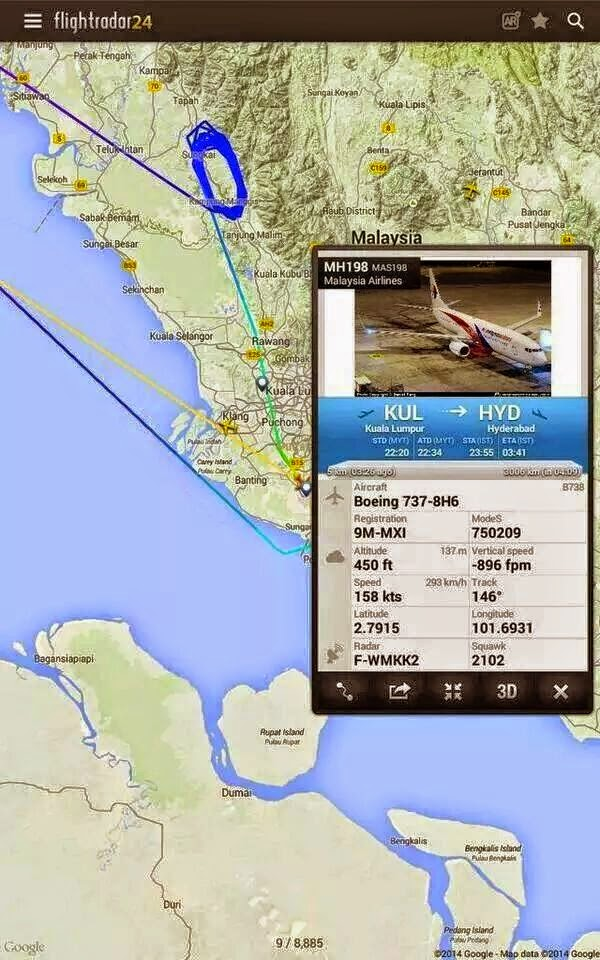 TERKINI Pesawat MH198 ke Hyderabad Berpatah Balik Mendarat Cemas Di KLIA