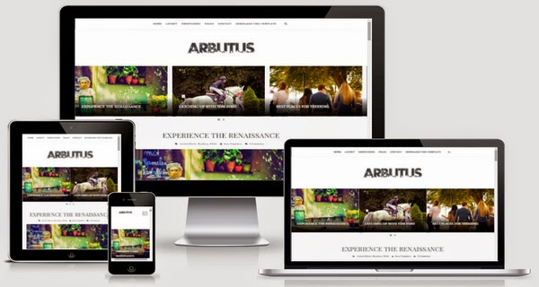 Arbutus Responsive Blogger Template Free Download