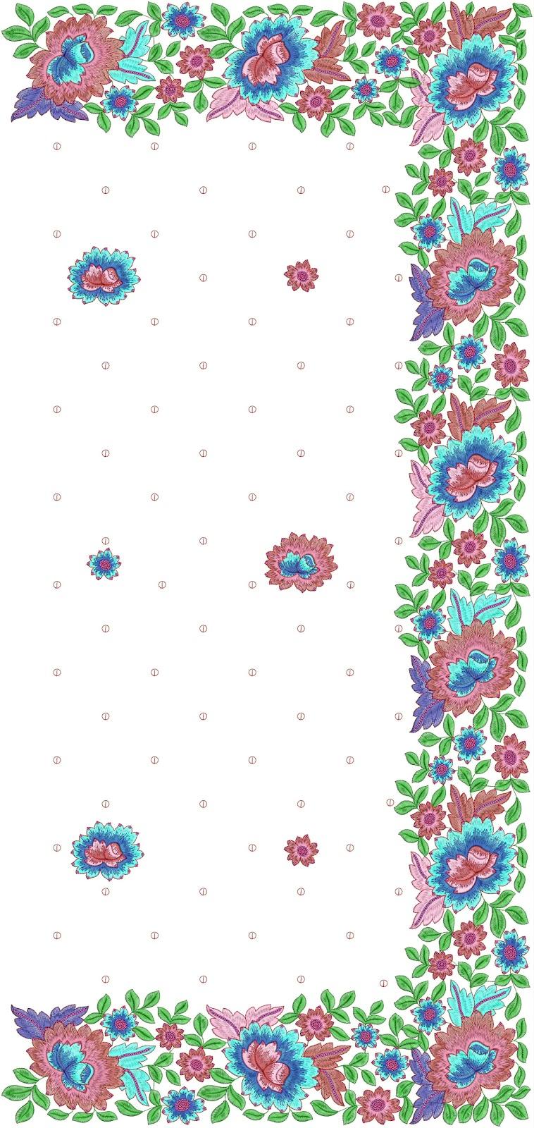Fancy look c pallu embroidery design for saree latest