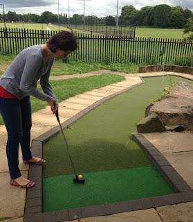 Adventure Golf course in St Nicholas Park, Warwick