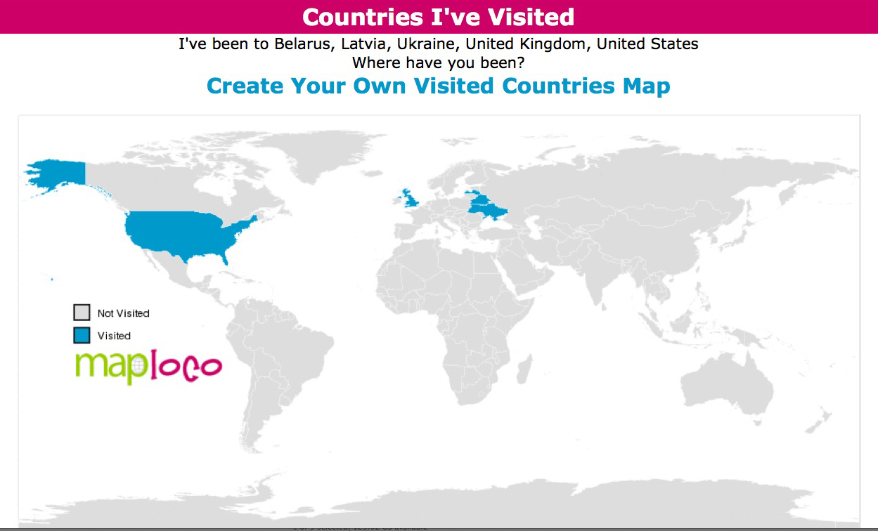 Ancestral Discoveries Easy Custom Genealogy Maps Beyond North America - Create map of countries visited