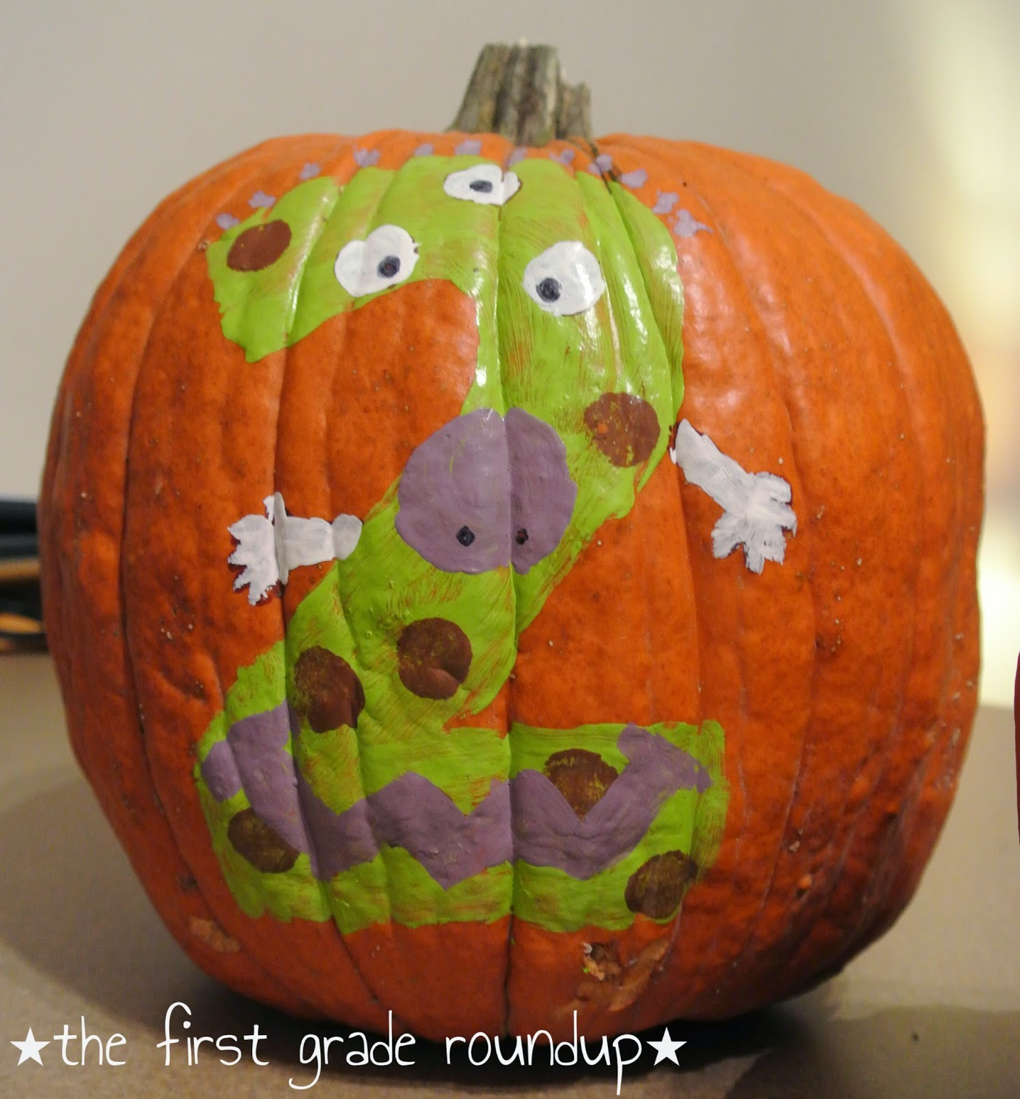 Painted pumpkins disney characters