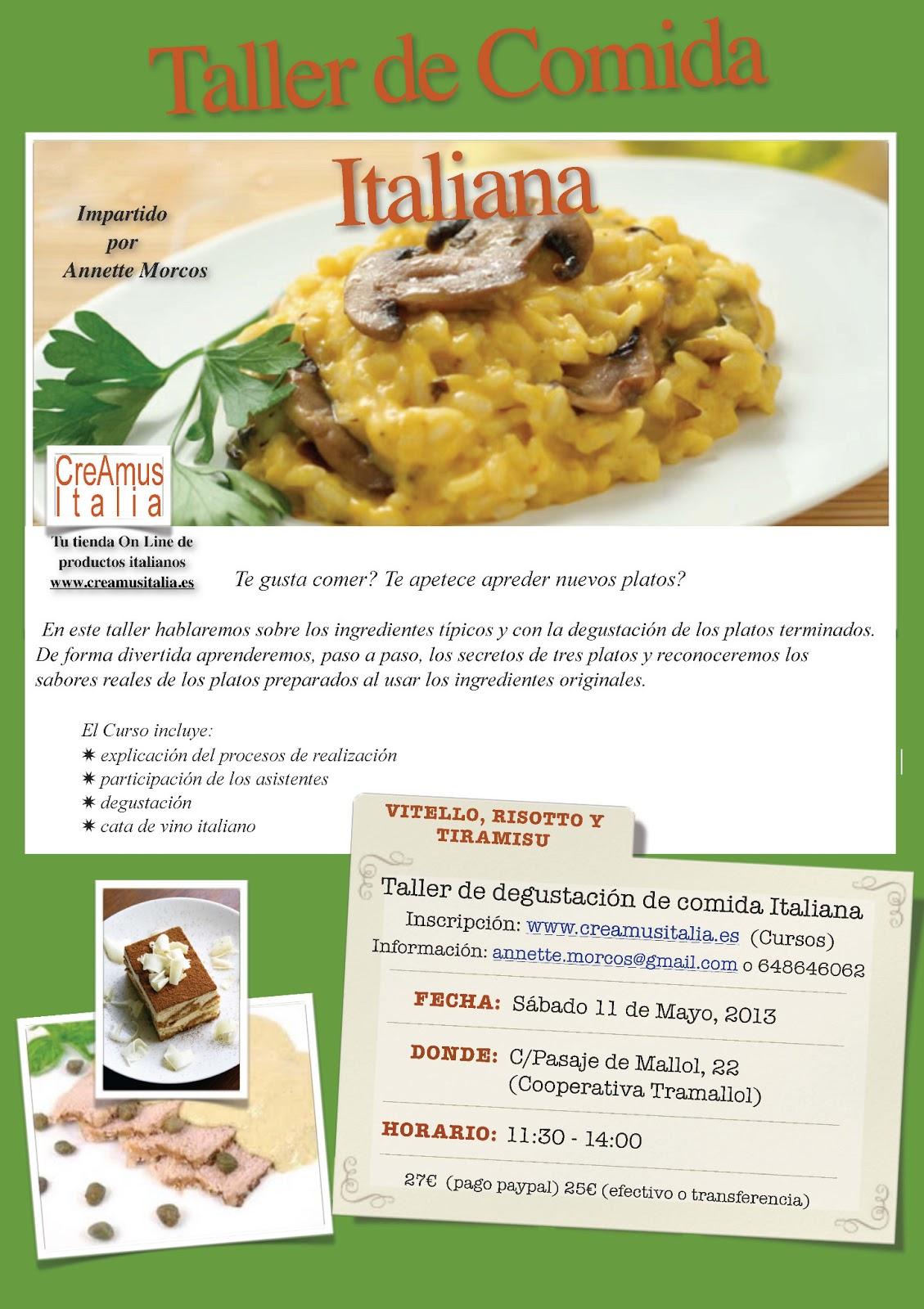 Taller De Cocina Sabores | Taller De Cocina Italiana Tramallol