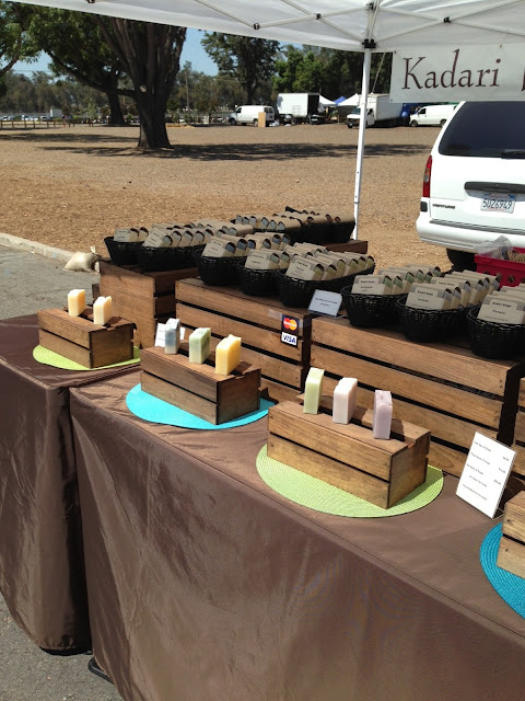 Kadari Soaps available at the Orange County Farmers Market