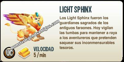 imagen de la descripcion del monstruo light sphinx