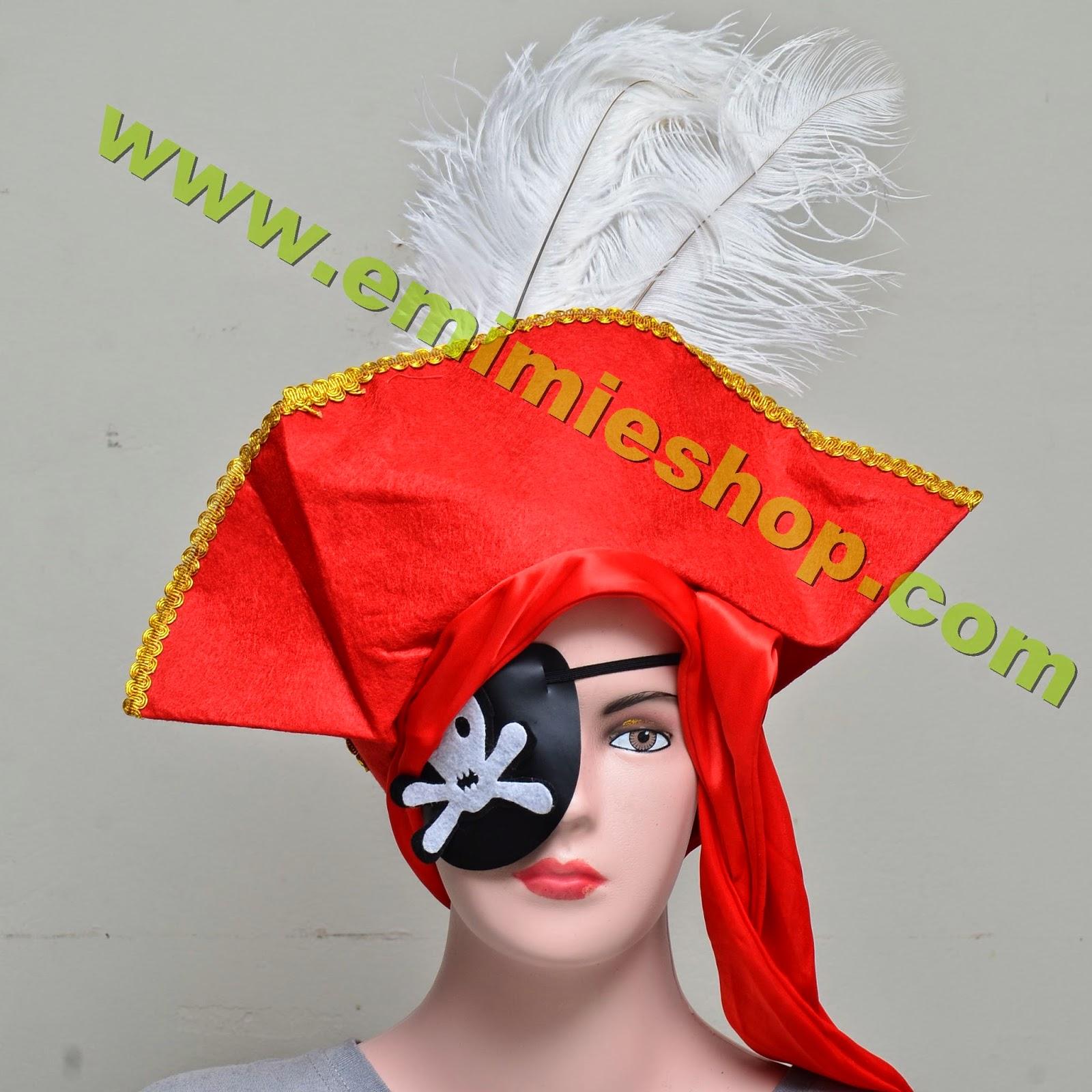 Topi Kostum Bajak Laut