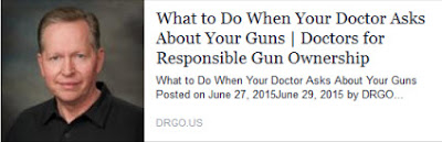 What to Do When Your Doctor Asks About Your Guns