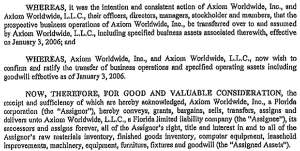 Assignment for benefit of creditors florida workforce