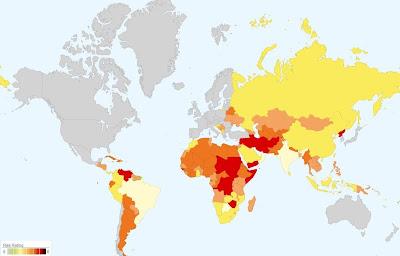 政治リスクマップ 世界地図